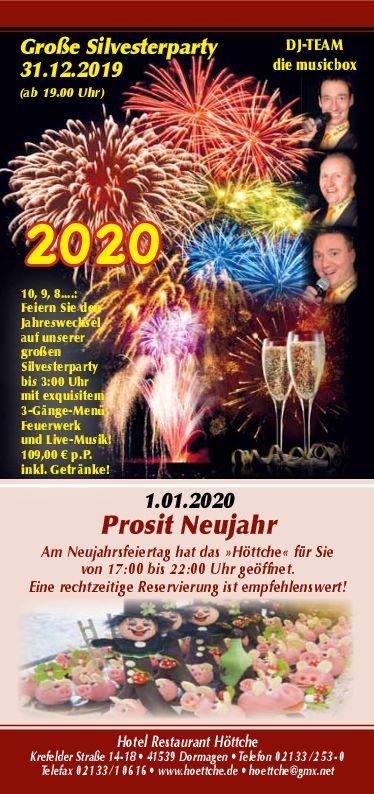 Neujahr 2019-2020 im Höttche, Dormagen